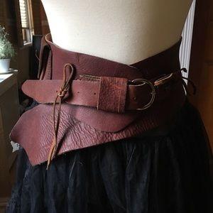 🍂 Handmade Leather Belt, Boho, Traveler, Festival